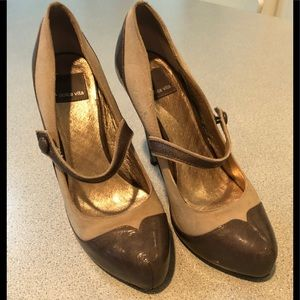 Dolce Vita Gary Leather/Suede Heels 7